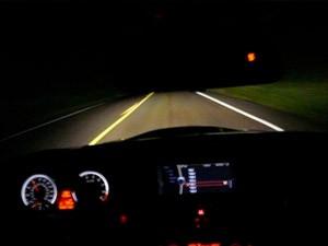 Учимся водить автомобиль ночью